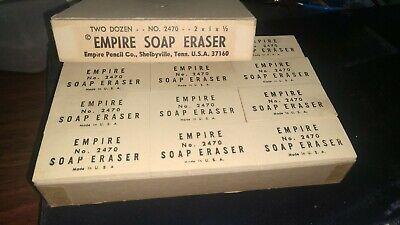 Full Box 1 Dozen 12 Vintage Eberhard Faber Stenorace Stick Erasers New NOS No.90