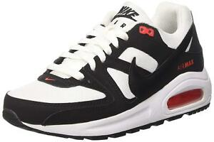 a7e72d6fd6f8 Nike Air Max Command Flex (GS) White Black Kids Youth Shoes Size 7Y ...