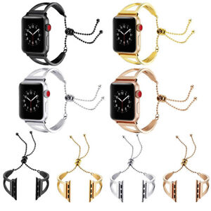 Womens-New-Stainless-Steel-Wrist-Band-Bangle-Cuff-Bracelet-For-Apple-Watch-3-2-1