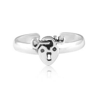 Heart Dolphins Toe Ring Solid Sterling Silver 925 Adjustable Best Jewelry
