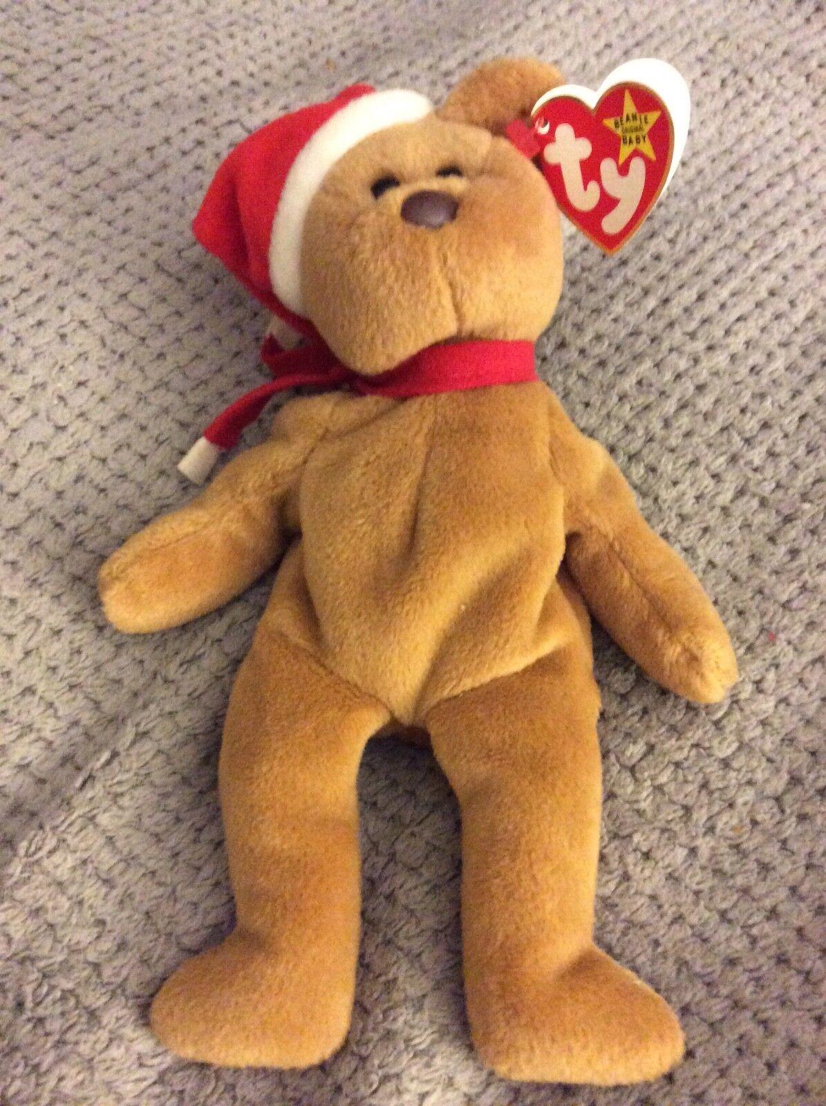 1997 Teddy Beanie Baby born 12-25-96. P.V.C. Pellets