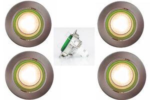 LED Deckeneinbaust<wbr/>rahler Einbau Lampe Schwenkbar Set GU10 230V 16W Decken Spot