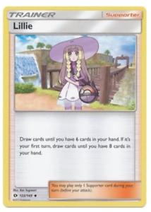 Base Set 122//149 Lillie POKEMON Sun and Moon PLAY SET x4 CARDS