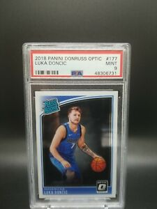 2018 Donruss Optic RC Mavericks LUKA DONCIC Rookie Basketball Card PSA 9 MINT