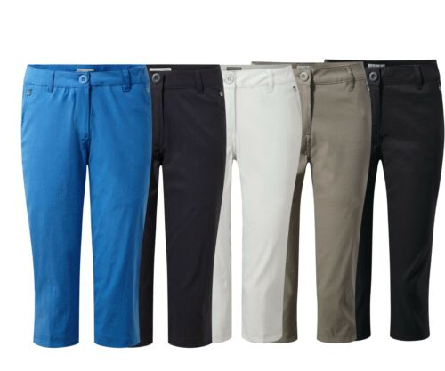 Craghoppers Womens Kiwi Pro Full Stretch Crops 3//4 Capri Trousers From £27.99