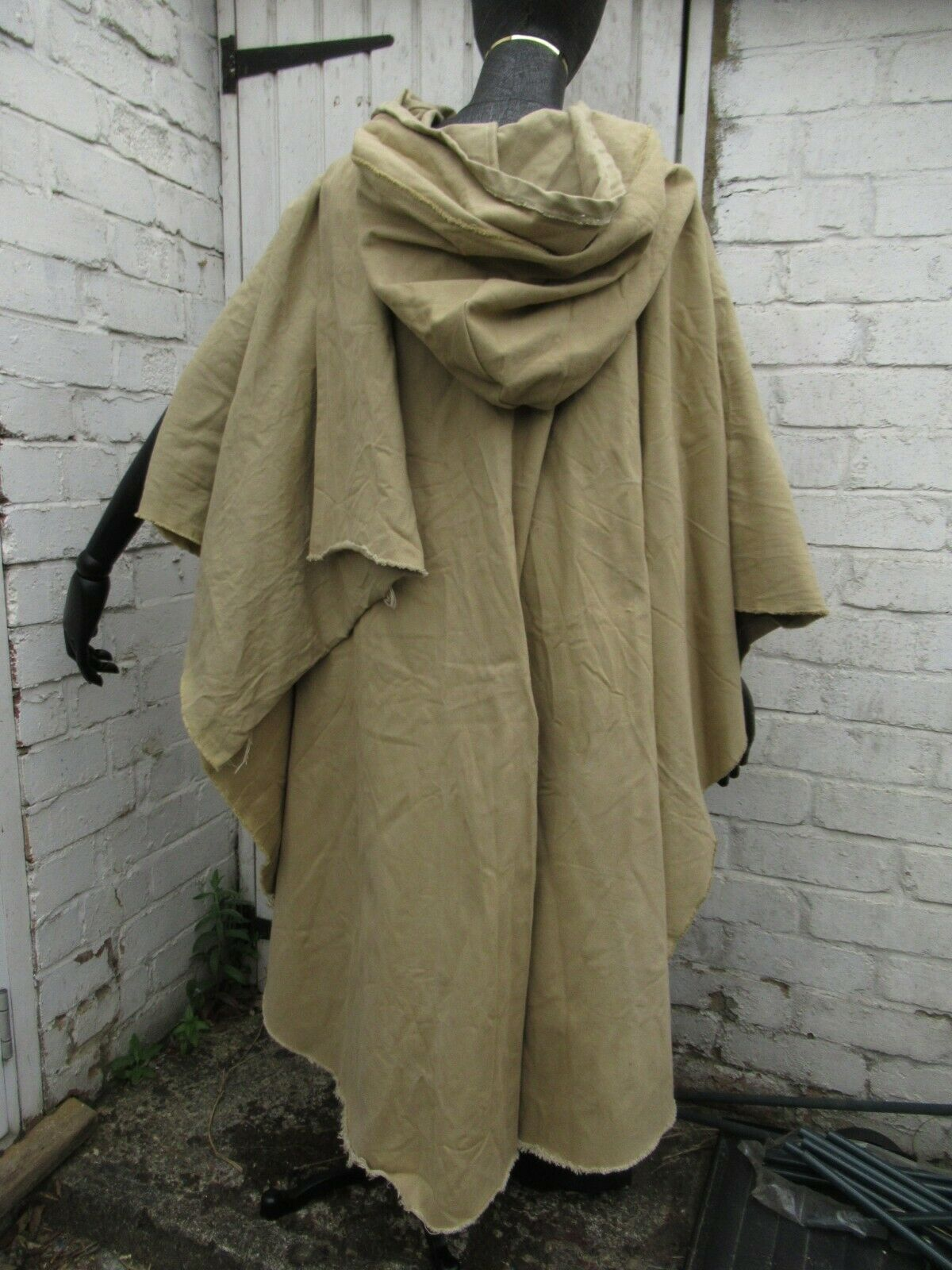 Nortman cape hooded Reenactment beige, black, khaki Vikings Medieval Celtic LOTR