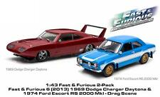 GREENLIGHT 86251 THE FAST AND FURIOUS DODGE CHARGER ESCORT RS DIORAMA SET 1:43