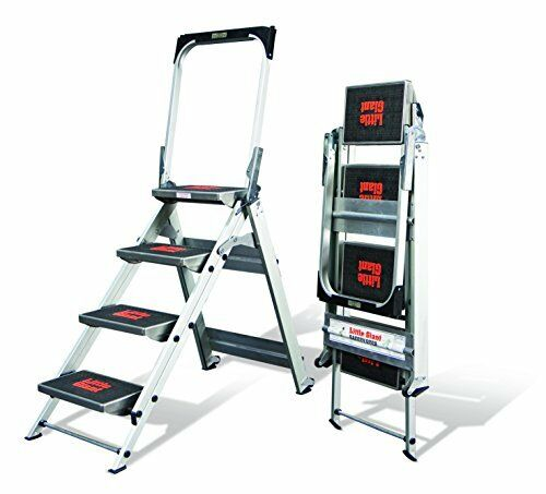 """Sturdy /& Compact 2/""""x11/"""" Little Giant Ladder Safety Ladder Four Step with Bar"""