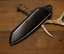 knife-blade-sheath-cover-scabbard-case-bag-cow-leather-customize-black-Z1022 thumbnail 1