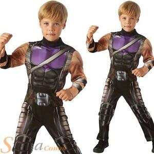 Image is loading Boys-Deluxe-Hawkeye-Avengers-Assemble-Costume -Superhero-Fancy-  sc 1 st  eBay & Boys Deluxe Hawkeye Avengers Assemble Costume Superhero Fancy Dress ...