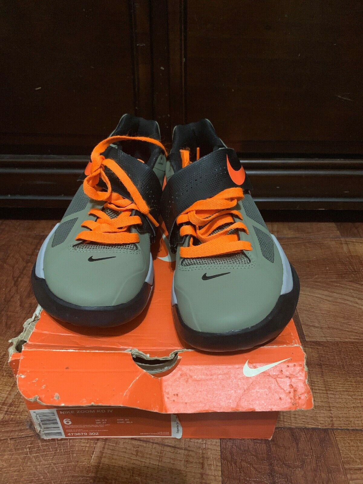 DS Nike Zoom KD IV 4 GREEN UNDFTD Kids Size 6