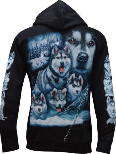 XXL Husky Dog Puppy Puppies Dogs Cute Zip Zipped Hoodie Hoody Jacket M