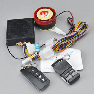 12V Motorcycle Bike Security Alarm Anti-theft System Remote Control Engine Start