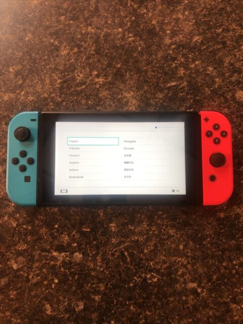 Nintendo Switch 32GB with Neon Red and Blue Joy-Con - Console Only