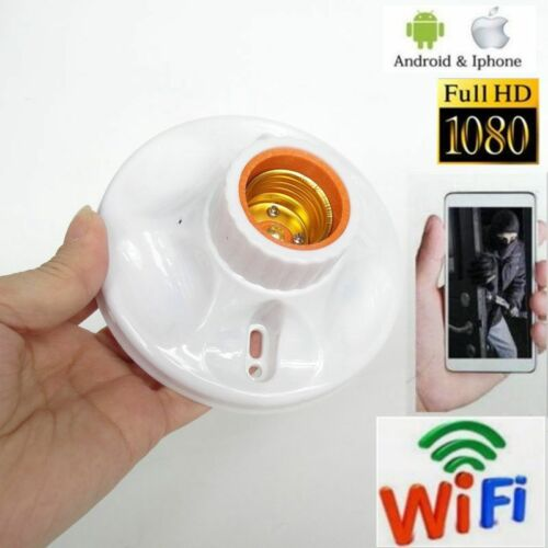 HD 1080P Camera Wifi Wireless SPY Cam mini Lamp holder type Covert Recorder DVR