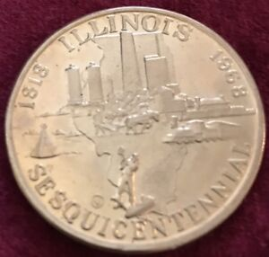 AUG-26th-1818-1968-STATE-SEAL-of-ILLINOIS-SesquiCentennial-Coin-150-Years-039-68