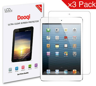 3X Dooqi HD Clear Screen Protector For New iPad 6th Gen 9.7inch 2018 A1893 A1954