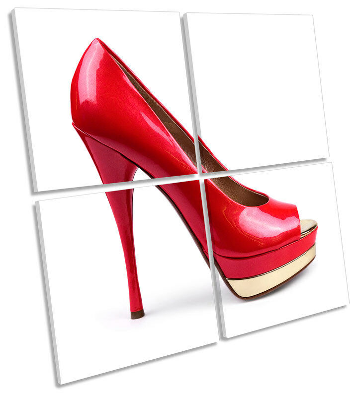 Fashion High Heel schuhe MULTI CANVAS WALL ART Square Picture