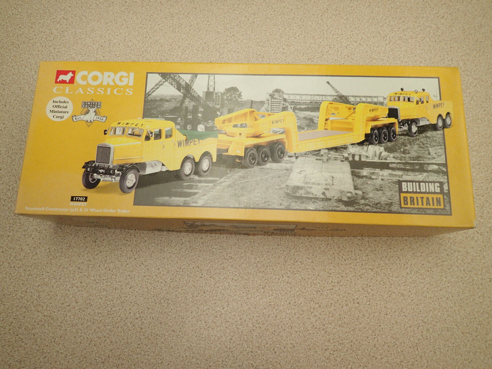 Corgi 1 50 17702 Scammell Constructor 24 Wheel Trailer Wimpey Untouched