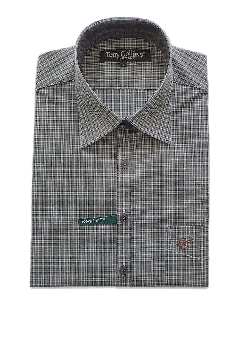 Orbis os Trachten camisa 3589 55 oiiv camisa Karo camisa wanderhemd camisa de caza