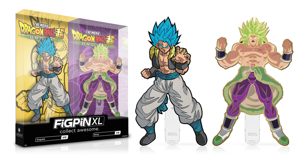 2019 SDCC EXCLUSIVE FIGPIN DRAGON BALL SUPER BROLY AND GOGETA, DBZ, FUNIMATION