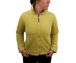 Patagonia Women's Synchilla Windzone Fleece Jacket Small Yellow Sherpa Coat Zip