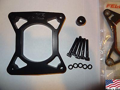 "96-04 Mustang GT 4.6 1//2/"" Black Plenum Intake Spacer Plate Kit Nitrous 1//16 NPT"
