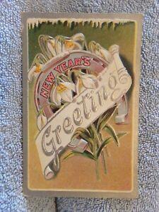 Vintage-Postcard-New-Years-Greeting-Flowers