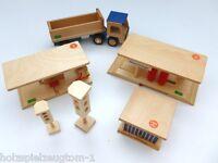 Ampel Garage Waschanlage Tankstelle Spielzeug Holzspielzeug Lastwagen Lkw
