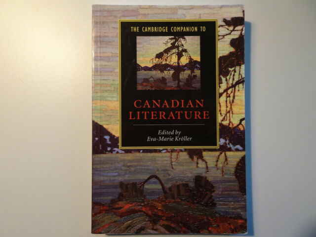 2489 The Cambridge Companion to Canadian Literatur, Eva-Marie Paperback