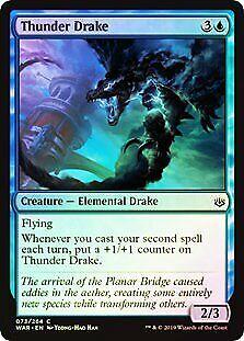 Thunder Drake FOIL War of the Spark NM-M Blue Common MAGIC MTG CARD ABUGames