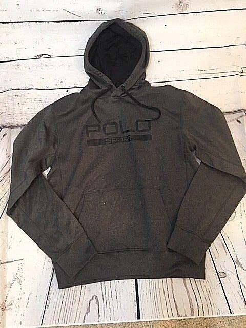 Ralph Lauren Performance Sport Hoodie Thermal Sweatshirt, Größe S, grau