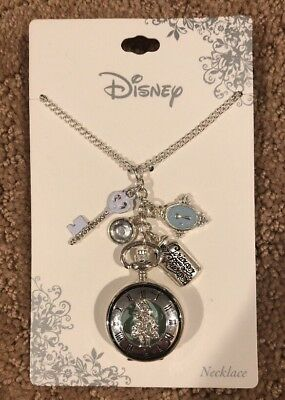 Disney Nightmare Before Christmas Jack /& Sally Coffin Mixed Metal Necklace NWT!