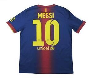 Barcelona 2012-13 ORIGINALE HOME SHIRT MESSI #10 (eccellente) XL Ragazzi