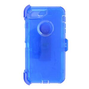 separation shoes 75cbb 19302 Details about iPhone 6/6s, 7, 8 Transparent Clear Blue Defender Case (Clip  Fit Otterbox )