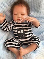 "Childrens 1st Reborn Doll Baby Boy Big Newborn Size Stefan 22"" Rooted Hair UK"