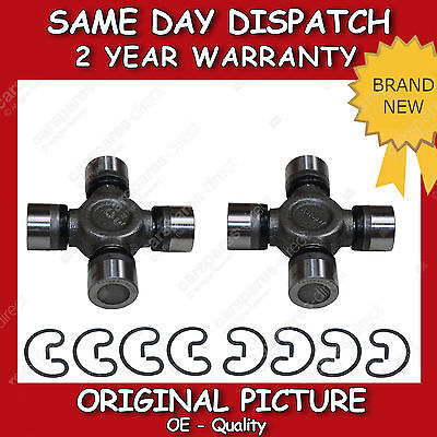 2x For FORD RANGER 06/> CROSSING REAR PROPELLER PROPSHAFT UNIVERSAL JOINT 27x95mm