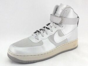 fd815815697 NIKE Air AF-1 Hyperfuse 454433-001 Silver High Top Sneakers Men s US ...