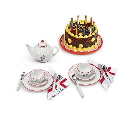 Enjoyable American Girl Mollys Birthday Tea Set Cake Retired New Nib Ebay Personalised Birthday Cards Paralily Jamesorg