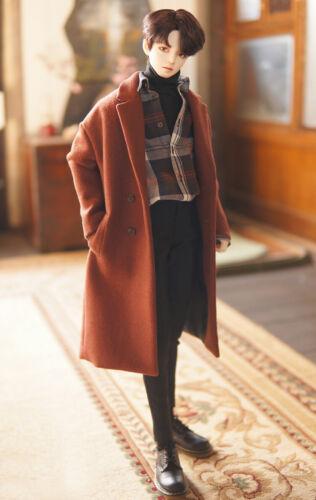 1//3 SD BJD Clothes European Suit Coat /& Plaid Shirt /& Inner T-Shirt /& Pants Male