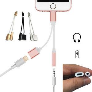 2in1 3,5mm Audio Kopfhörer Jack Adapter Ladekabel für iPhone 7 Tauchgang