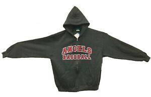f78d65ce1f7 New Champion Los Angeles Angels MLB Heather Hooded Sweatshirt Red ...