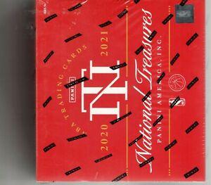 2020-21 PANINI NATIONAL TREASURES BASKETBALL NBA TRADING CARDS SEALED HOBBY BOX