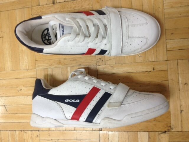 NEW  Gola Men`s  Leather Trainer  Size 9 U.S. With Power Strap.
