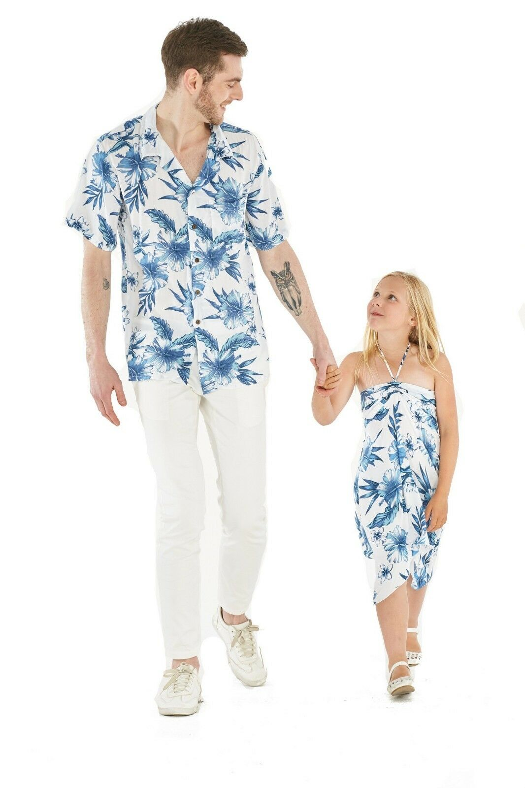 Hawaii Hangover Father Daughter Matching Luau Cruse Outfit In Day Dream Bloom