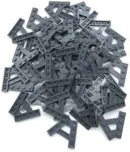 Lego 50 New Dark Bluish Gray Plates 2 x 10 Stud Pieces