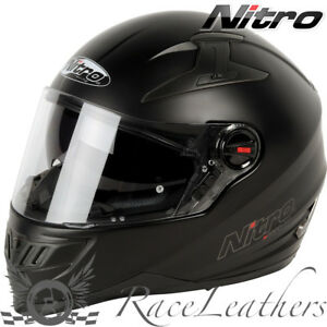 Nitro N2200 Uno DVS Full Face Motorcycle Helmet Bike Pinlock Ready Satin Black