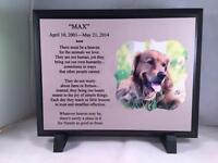 Beautiful 7x9 Personalized Photo Pet Memorial Plaque - Thoughtful Gift