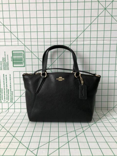 3d08b9de61 ... closeout coach f28994 mini kelsey satchel crossbody in pebble leather  black a8a6b 12c63