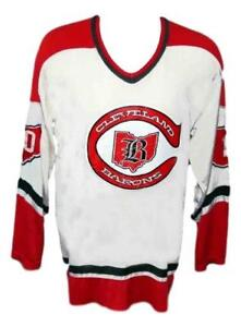 Any-Name-Number-Size-Cleveland-Barons-Retro-Custom-Hockey-Jersey-White